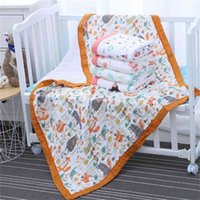 29 Styles 110*110cm 120*150cm 6 Layers Muslin Cotton Baby Sleeping Blanket Swaddle Breathable Infant Kids Children 210910