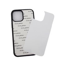 Sublimation Phone Cases for iPhone 12 11 Pro MAX XS XR TPU bumper Aluminum blank priting back cover DIY design case