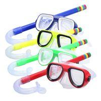 Детская профессиональная подводная плавательная маска для подводного плавания и подводное плавание Анти-туманные очки для дайвинга очки плавание легкая трубка дыхания