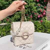 Shoulder Bags Fashion Designer Famous Sewing Thread Women Diamond Lock Bag Quality PU Leather Handbags Elegant Lady