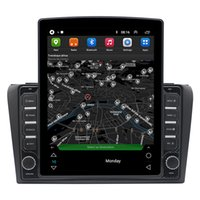 Car Dvd Gps Navigation Vertical Video Screen Stereo Tesla Style Android for Mazda 3 2004-2009 Support Steering Wheel Control 3G Carplay Rearview