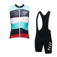 MAAP Equipo Ciclismo Sin mangas Jersey Jersey Chaleco Pantalones cortos BIB Sets Summer Shirts Ropa Bicicleta Desgaste transpirable Secado rápido H041603