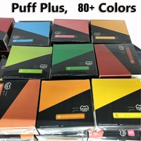 Puff Plus 800 Puffs Disposable Vape E Cigarette Device 3.2ml Pod med säkerhetsklistermärke 80+ Färger Puff Bar Plus