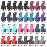 Capas de telefone de defesa de grau militar para iphone 13 Pro Max 12 11Pro XR XS 7 6S 8 Samsung Note20 Ultra S21 S20 S9 com clipe / holster resistente à prova de choque
