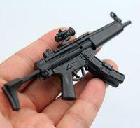 1: 6 مقياس mp5 رشاش بندقية تجميعها الأسلحة النارية لغز نموذج ل 1/6 الجندي الأسلحة العسكرية اللبنات بنين هدية اللعب