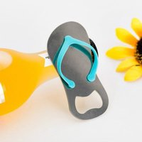 Creative Beach Flip-Flop Shoes Shape Openers Beer Bottle Opener With Gift Box Wedding Favor Gifts LLE6208