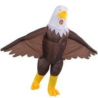 Mascote boneca traje inflável traje mascote águia terno traje adulto cartoon personagem personagem roupa vestido fantasia para festa carnaval m