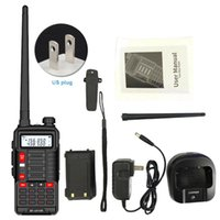 Walkie Talkie With Backlight VHF UHF Two Way Outdoor Station Portable Radio Camping Dual Band USB Charging Telecommunications