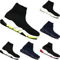 أعلى جودة باريس كيد جورب أحذية رياضية سرعة الصبي فتاة العدائين المدربين متماسكة الجوارب الثلاثي s أحذية عداء kisd أحذية حجم 24-35 مع مربع