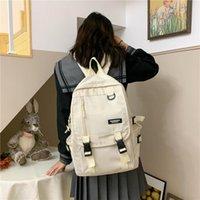 Backpack Women Nylon Candy Color Waterproof School Bags For Teenagers Girls Patchwork Female Rucksack
