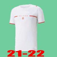 2021 2022 Switzerland Version Version Futebol Jerseys 20 21 22 Shaqiri Seferovic Inler Embolo Home Away Fans Homens Kids Football Shirts