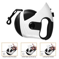 Dog Collars & Leashes Retractable Leash 16 Feet Heavy Duty Walking One-Handed Brake, Pause, Lock, Build-in LED PL052