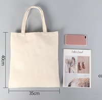 DIY Publicidad Sublimación Bolsa de lona ecológica Compras en blanco Bolso de algodón Mujeres Impresión de transferencia de calor DHF7632