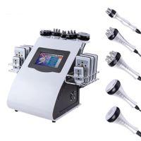 Modelo de alta qualidade 6in1 40k lipoaspiração ultra-sônica Cavitação de emagrecimento 8 pads laser vácuo RF cuidados de pele de pele de salão máquina de beleza máquina