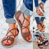 Sandals Flats Shoes Women Summer Leopard Print Zipper Flat Beach Open Toe Breathable Sapato Feminino Woman 2021