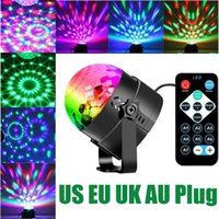 Effects Disco Ball Strobe Light Party Lights Karaoke 3W Dj LED Portable 7Colors Sound Activated Stage For Festival Bar Club