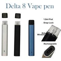 Delta 8 Einweg-Vape-Stift-Gerät Pod E-Zigaretten 240mAh Wiederaufladbare Batterie 1.0ml-Patronen Starter-Kits leeres Snap auf System benutzerdefinierte Logo und Verpackung