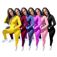 Sweat Suits Women Matching Sets Joggers Tracksuit 2 Piece For Sexy Long Sleeved Zipper Tops Tight Pants Wholesale Drop Women's Tracksuits