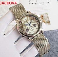 montre de luxe mens japan quartz movement watch 44mm dress full Fine Stainless steel mesh Sapphire waterproof Classic Wristwatches