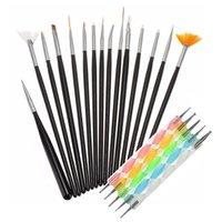 Dicke 100% Kolinsky Gel Nail Art Pinsel Set liefert hölzernen Acryl
