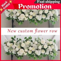 Decorative Flowers & Wreaths 1M Road Cited Artificial Row For Wedding Supply Rose Peony Wall Backdrop Arrangement Arch Fake Decoration DIY