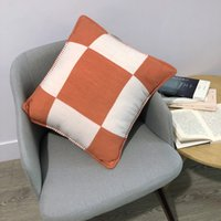 H Lettera 45 * 45 cm Pillow Nordic Case Home Cassa in tessuto Jacquard Custom Custom Grigio Nero Bianco Bianco Coperta Cuscino Divano Lana
