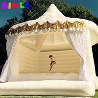 Kinder und Erwachsene Royal White Hochzeit Aufblasbare Hüpfburg Mit Zelt Moonwalks Bounce House Jump Hoffer-Luftbett für jedes Alter