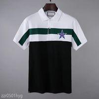 2021SS 디자이너 폴로스 셔츠 남성 고품질 악어 자수 짧은 소매 여름 캐주얼 코튼 폴로 셔츠 망 큰 크기 M-3XL FF