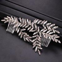 Hair Clips & Barrettes Accessories Bridal Rhinestone Combs Weaving Wedding White Crystal Birthday Travel LXH