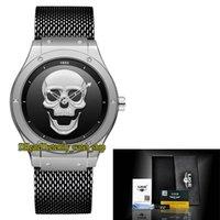 LIGE Eternity LG9876 Sport Mens Montres Squelette Doux Mouvement Quartz Hommes Regarder l'acier Sangle de forme en grille noire en acier inoxydable