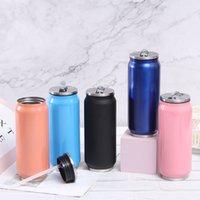 Kreative Can-förmige Wasserflaschen Kaffeetasse Tragbare Edelstahl Vakuumflasche Outdoor Sports Tumbler-Tasse Geschenk