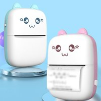 Printers Handheld Mini Cute Cat Thermal Printer Mobile Phone Wireless Po Memo Wrong Question Study Stationary