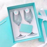 2 pcs de alta qualidade partido branco champanhe vinho moet copos com caixa grátis shi