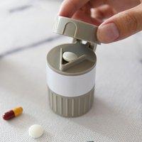 Bottiglie di stoccaggio Barattoli Portatile Case Splitter Powder Home Grinder Scatola da taglierina Ricorda per Elder Alta qualità