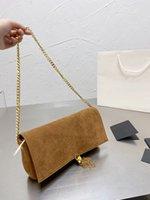Classic messenger bag USES envelope womens Designer fashion joker aslant package quality feel deerskin golden metal single Pochette shoulder bags