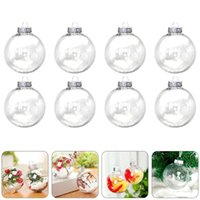 2021 6cm 8cm 10cm Christmas Decoration Balls Plastic Clear DIY Fillable Baubles Ornaments Xmas Tree Hanging Ball New Year Decor for Home
