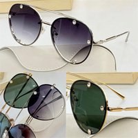 2045 패션 선글라스 여름 스타일 그라데이션 렌즈 UV 400 여성을위한 보호 빈티지 외부 금속 라운드 프레임 최고 품질 케이스 클래식 안경