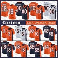 18 Peyton Manning 12 Aaron Rodgers Männer Frauen Kinder Benutzerdefinierte Fußball-Trikots 31 Justin Simmons 10 Jerry Jeudy 58 von Miller DenverPatrick Satain II BroncosFantel
