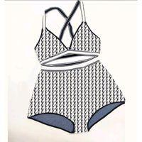 Kadınlar Için Bikini Mayo Mayo Tasarımcı Banyo Takım Elbise Pantolon Gömlek Iki Parçalı Bölünmüş Çapraz Askı Pantolon Çok Elastik 35-60kg