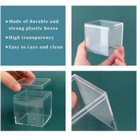 Jewelry Pouches, Bags 634D Plastic Transparent Box Square Candy Heaven And Earth Cover Food Slime Packaging