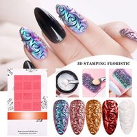 Nail Art Kits Printing Silicone Template 3D Manicure Relief Soft Mold Beauty Accessories For Painting SMJ