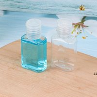 New30ML اليد المطهر زجاجة بلاستيكية بلاستيكية مع فليب أعلى كاب واضح زجاجة شكل مربع لمستحضرات التجميل المتاح اليد المطهر HWF8590