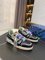 Beyefendi Düz Rahat Ayakkabılar Kadın Nakış Seyahat Deri Dantel-Up Sneaker Mektuplar Kadın 100% Dana Moda Platformu Erkekler Spor Büyük Boy 39-45