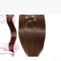 인간의 머리카락 확장에서 클립 브라질 처녀 머리 70-160G 브라질 헤어 확장에서 다른 색상 클립