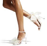 Sapatos vestidos famosos aveline sandálias sexy mulheres saltos altos malha arcos torres de torta de tornozelo gladiador sandalias requintado stiletto-salto casamento festa noite