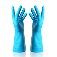 Long Reusable Anti Slip Cuff Durable Household Cleaning Latex Gloves for Kitchen Dish Washing Supplies