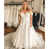 A-Line Wedding Dresses Backless Sweep Train A Line Appliques Lace Garden Beach Boho Country Bridal Gowns robes