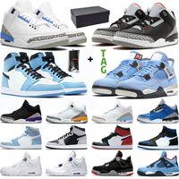 jordan 1 4 Scarpe da basket Uomo Donna 4s 1s University Blue Black Cement UNC Taupe Haze High OG 1 Mens Womens Trainers Sneakers Sport