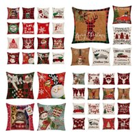 46style Home Christmas pillow Case sofa waist cushion cover bedside backrest pillow cover Bedding Supplies T2I52833