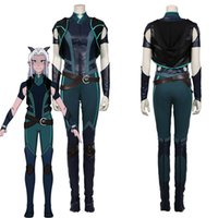 The Dragon Prince Rayla Cosplay Costume Vest Pants Outfits Halloween Suit